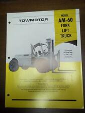 Caterpillar Lift Truck Brochure~AM-60 Fork Lift~Specifications Data Sheet