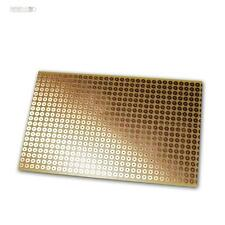 Kupferplatine 160x100mm, Lochraster Lötpunkt RM 5,08mm, Kupfer-Platine, PCB