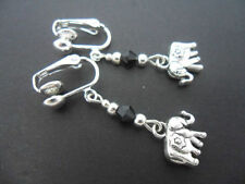 Crystal Handmade Tibetan Silver Costume Earrings