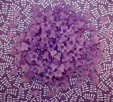 LOOSE ACRYLIC-LUCITE BEADS-FLOWER-FLOWERS-TULIP-LILAC-40 BEADS-PLUS FREE GIFT