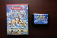 Sega Mega Drive Advanced Daisenryaku Great Strategy boxed Japan MD game US Selle