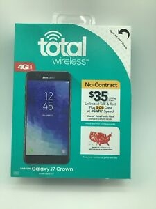 NEW SEALED Total Wireless Samsung Galaxy J7 Crown Prepaid 4G LTE Smart phone