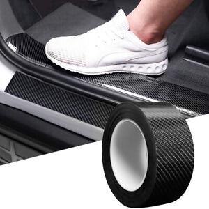 Protector Sill Scuff Cover Car 5D Carbon Fiber Sticker Body Anti Scratch Strips