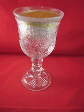 Nib Vintage Avon Heart and Diamond Fostoria Glass Loving Cup Candle Holder~1978