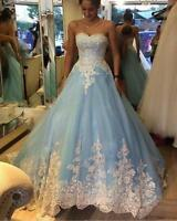 Tulle A Line Prom Evening Dress Appliques Sweetheart Celebrity Party Formal Gown