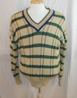 Bobby Jones Men's Sweater Golf V-Neck Long Sleeves  Cotton  Size L