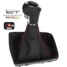 Leather ICT gear shift knob Vauxhall Opel Astra H Holden 6gear thread red C72