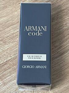 BRAND NEW RELEASE SEALED GIORGIO ARMANI CODE POUR HOMME EAU DE PARFUM 15ML SPRAY