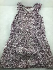 Tea Collection Purple and White Tropical Pattern Girl's Dress Size 6