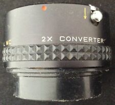 Focal MC Pentax 2X Converter Camera Lens with Covers and Case PK Made in Japan