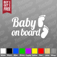 2x Baby on board Sticker Vinyl Decal Car Window/bumper Sticker funny