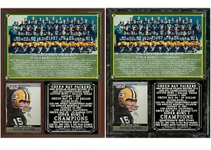 1966 Super Bowl I Green Bay Packers Photo Card Plaque