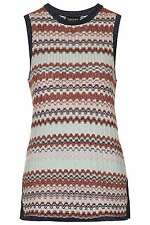 BNWT TopShop Chevron Metallic Tank Top RRP 36£