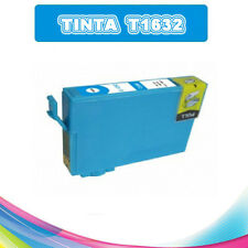 TINTA CIAN T1632 T16XL COMPATIBLE PARA IMPRESORAS NONOEM EPSON CARTUCHO AZUL