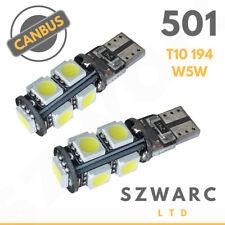 Vw Super Bright 501 9 Led Cree Smd Side Bulbs Error Free Canbus 801 T10 W5w 12v