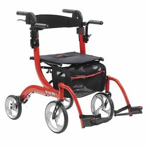 Drive Medical Nitro Duet Dual Function Transport Wheelchair and Rollat...