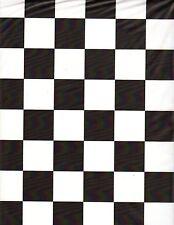 Black & White Checker table cover tablecloth rectangular plastic 54 x 108 (2 pc)