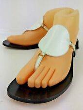 Kate Spade Womens Sandals New York US 6 B White Leather Black Heels Thong 5681