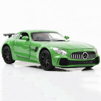 1/32 Mercedes Benz AMG GT Model Car Diecast Gift Toy Vehicle Green Pull Back