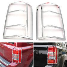 2PCS For Jeep Patriot 07-17 Chrome Rear Tail Light Lamp Cover Trim Bezel Decor