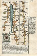 Antique map, Road from St. Davids to Holywell (1)