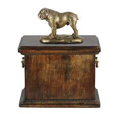 Bulldog Inglés CONMEMORATIVO Urna para de perro ashes , madera maciza crematoria