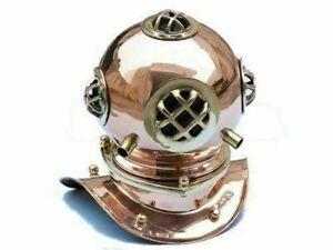 Us navy marine mini diving helmet replica mark nautical brass copper finish gift