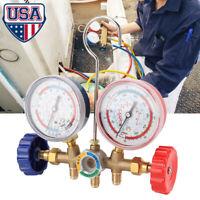 Pro AC A/C Diagnostic Manifold Freon Gauge Set Diagnostic A/C Tool Kit for R22