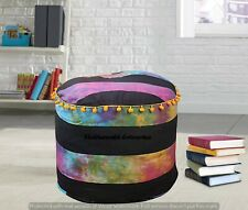 Mandala Pouf Cover Round Indian Ottoman Poof Pouffe Foot Stool Cover Decor Floor