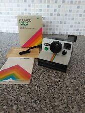 Polaroid 1000 Land Camera, Using SX-70 Film - GREEN Button camera - Working