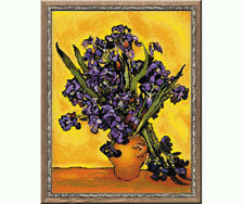 """Counted cross stitch kit - Irises after Van Gogh's Painting """" 1087 by Riolis"""