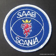 """SAAB SCANIA EMBROIDERED SEW ON PATCH LOGO AUTO CAR TURBO CHARGE UNIFORM 3"""""""