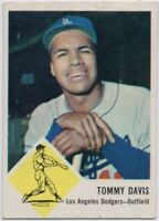 1963 Fleer #40 Tommy Davis VG-VGEX+ Wrinkle Los Angeles Dodgers FREE SHIPPING