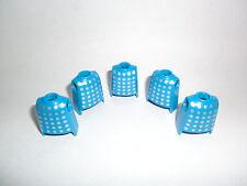 Playmobil 5 Parte superiore Corpo blu argento punteggiato Cavaliere 3627 3030
