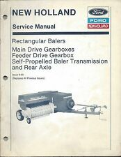 Ford New Holland Baler Main Feeder Drive Gearbox Service Repair Manual #40331203