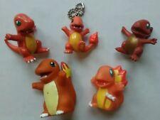 5 Vintage Charmander TOMY cgtsj Bandai Nintendo Keychain Rare Pokemon Figure Lot