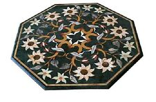 "20""x20"" Marble Coffee Table Top Inlay Mosaic Marquetry Art Furniture Decor H1660"