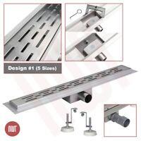 1500mm Long Rectangular Stainless Steel Linear Wetroom Drain (Design 1)
