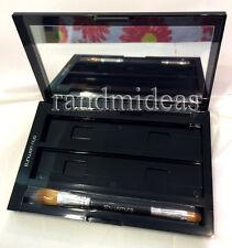 Shu Uemura Black Custom Palette Octo-Refillable Empty Compact Case With Brush~*