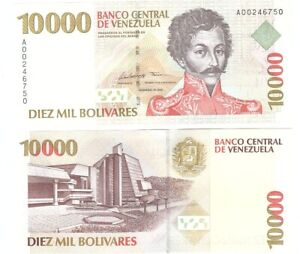 Venezuela - 10000 Bolivares 1998 P. 81 UNC Lemberg-Zp