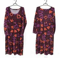 Womens Gudrun Sjoden Long Tunic Velvet Velour Floral Print Cotton Blend Size L