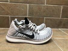 Nike Free RN Flyknit Gray Sz 8 Women's Running Training Shoes 831070-005