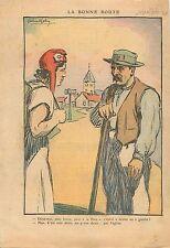 Caricature Politique Marianne la Paix Catholique Droit Eglise de France 1936