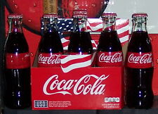 2017 USO AMERICAN FLAG CARRIER ONE LABEL NUTRITION INFO 8OZ COCA COLA BOTTLES