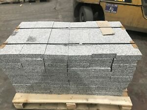 66 Pieces Silver Grey Granite 600mm Lengths. For Use As Paving Or Edging