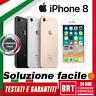 GRADO A+++ SMARTPHONE APPLE IPHONE 8 64GB RIGENERATO 12 MESI DI GARANZIA ITALIA!