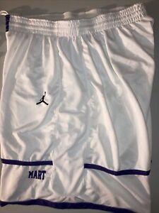 NWT Nike Jordan Brand Basketball Shorts White Purple XXL Free Shipping