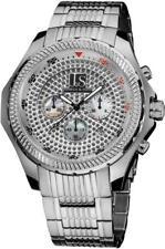 Joshua & Sons JS-43-SS Chronograph Date GMT MOP Subdials Silvertone Mens Watch