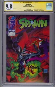 SPAWN #1 SS CGC 9.8 1ST APP SPAWN SIGNED BY TODD MCFARLANE
