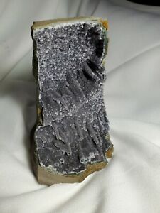 """HUGE 6"""" 1,048g Natural Black Amethyst Quartz Cluster Crystal Geode REIKI WICCAN"""